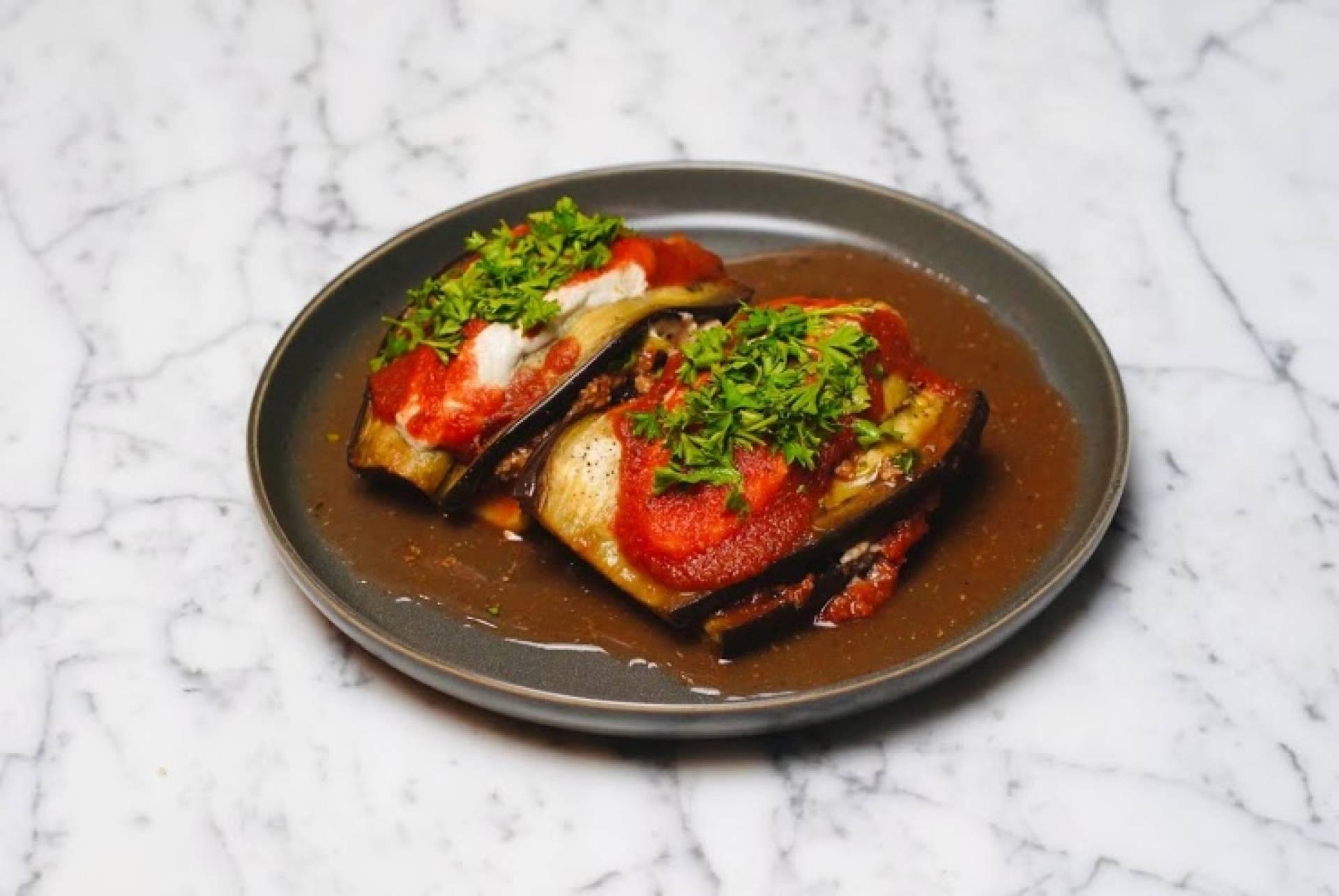 Turkey Eggplant Rollatini